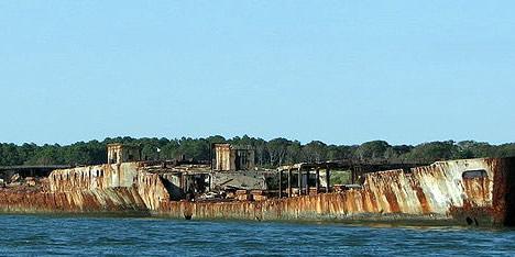 Concrete Ships forming the Kiptopeke Breakwater