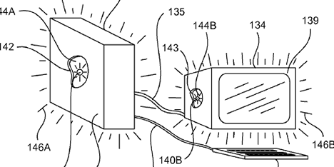Apple Glowing Computer Patent Illustration