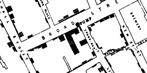 John Snow's Cholera Map, London